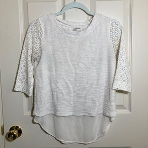 Lauren Conrad Double Layered Lace 3/4 Blouse